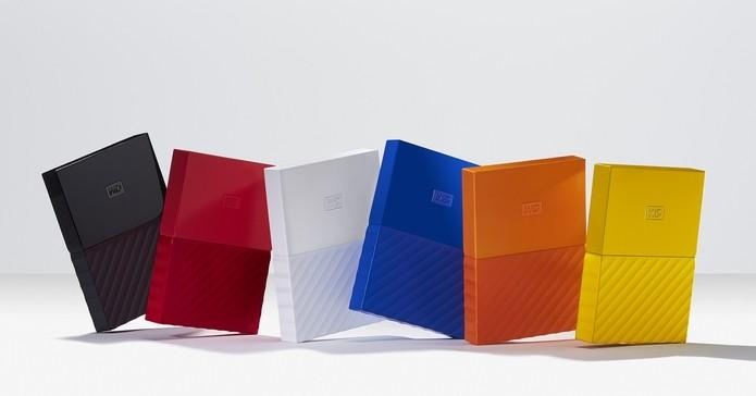 HDs My Passport ganham novo visual, com diversas opções de cores (Foto: Divulgação/Western Digital)