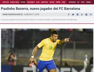 Paulinho anunciado Barcelona (Foto: Reprodução)