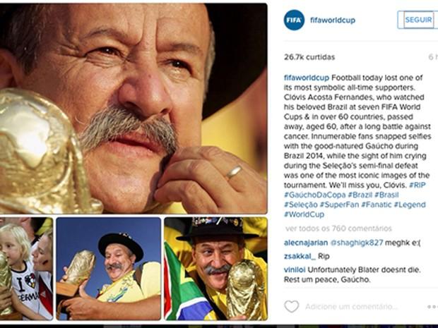 Gaúcho da Copa, rs, morte, alemanha (Foto: Reprodução)