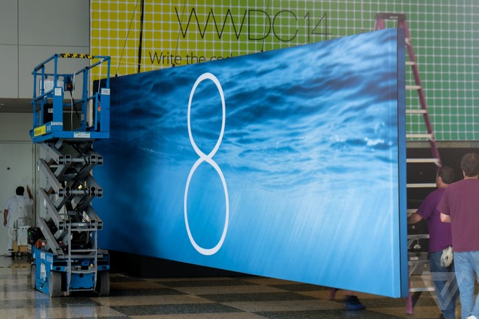 Painel sugere que iOS 8 deve mesmo ser lançado durante a WWDC 2014 (Foto: Reprodução/The Verge)