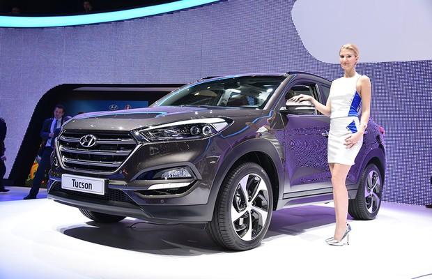 Novo Hyundai Tucson no Salão de Genebra 2015 (Foto: Newspress)