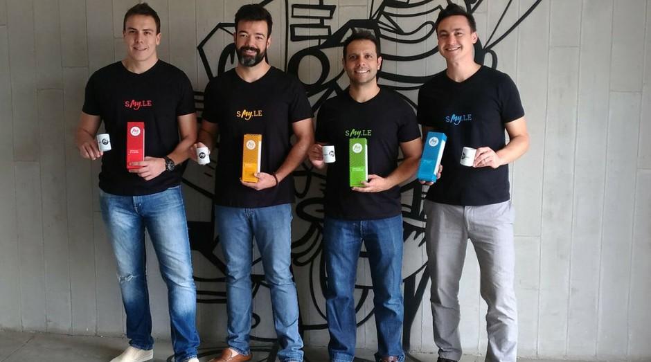 Os quatro sócios fundadores da My.Café. Dá esquerda para direita: Marcus Kurle, João Aleixo, André Veneziani e Ludger Tamaoki (Foto: Divulgação)