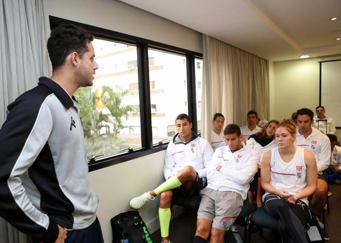 Thiago Pereira estará na torcida pela Fiat/Minas no Troféu José Finkel (Foto: Divulgação/Minas Tênis Clube)