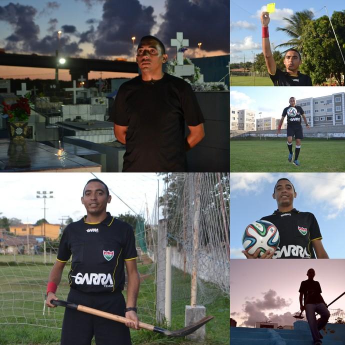 árbitro coveiro carlos alberto (Foto: Klênyo Galvão/GloboEsporte.com)