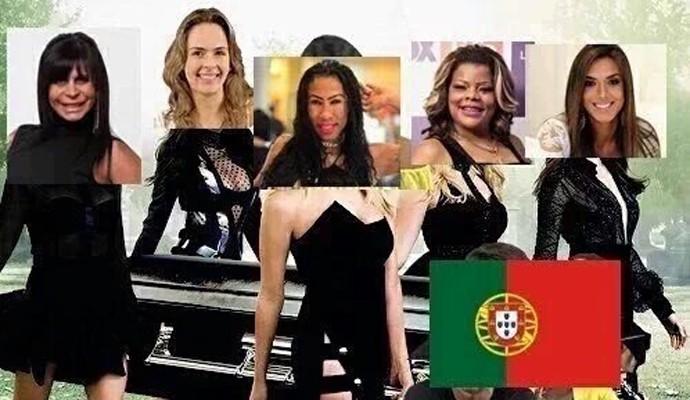 Divas brasileiras representando a vitória do país (Foto: Reprodução/Twitter)
