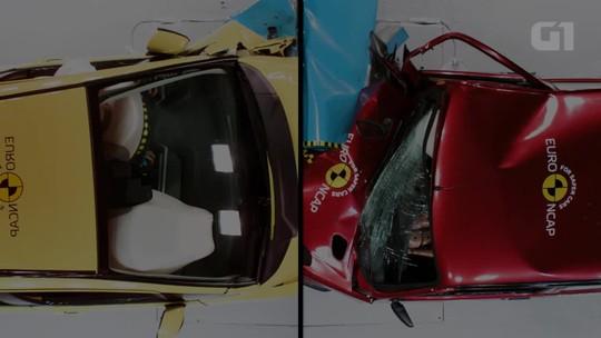 Vídeo de testes de colisão mostra como carros evoluíram em 20 anos