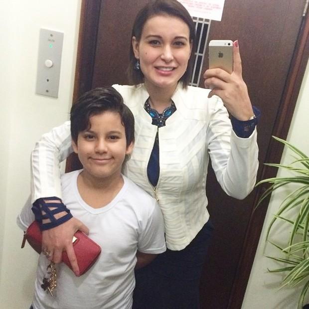 Urach e o filho (Foto: reprodução/instagram)