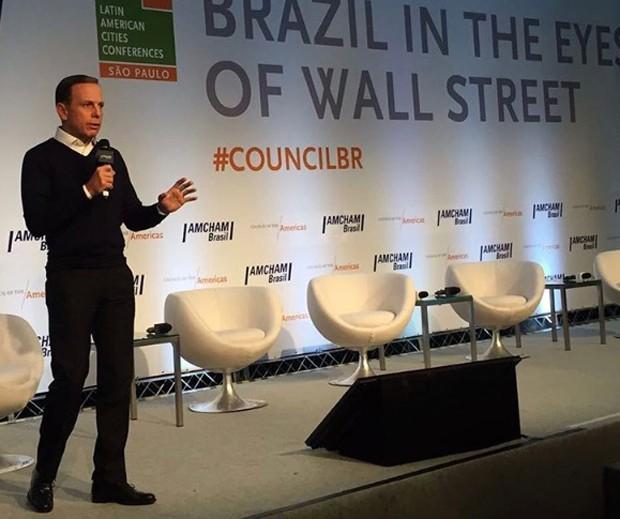 João Doria em palestra na AMCHAM  (Foto: Reprodução/ Instagram/ João Doria)