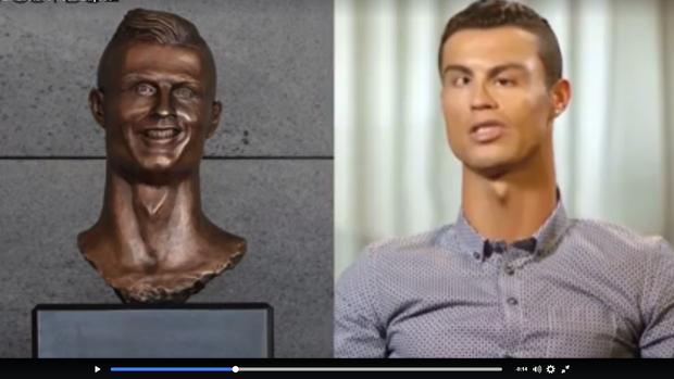 """BLOG: Vídeo reúne entrevistas de CR7 e """"adapta"""" rosto do craque ao seu busto; assista"""