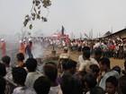 Incêndio arrasa milhares de cabanas da minoria rohingya em Mianmar
