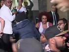 Manifestantes entram em prédio da SSP em ato pelos 5 jovens mortos