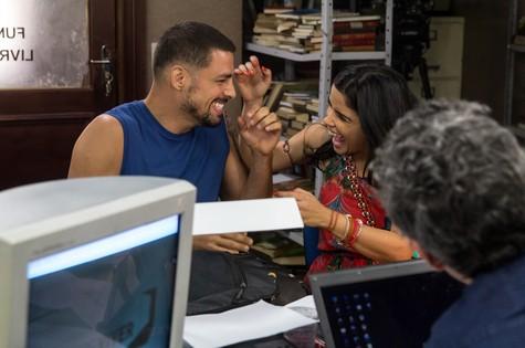 Cauã Reymond e Vanessa Giácomo (Foto: Pedro Curi/ TV Globo)