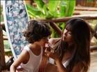Dani Suzuki mostra momento fofo com o filho, Kauai, em Noronha