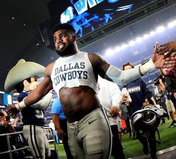 Ao lado de Dak, Ezekiel Elliott foi destaque dos Cowboys com 16 TDs (Foto: Getty Images)