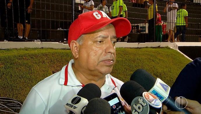 América-RN - Ricardo Bezerra, diretor de futebol (Foto: Reprodução/Inter TV Cabugi)