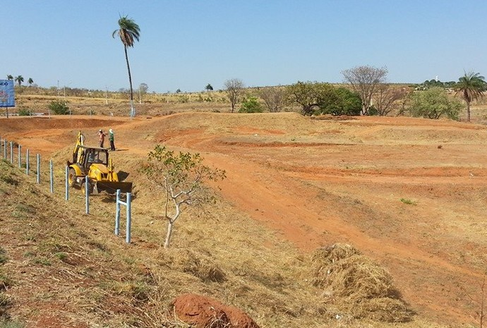 O local da prova passou por reformas e será inaugurado como pista de motocross Bruno Mota, em homenagem ao piloto (Foto: Tico Cordeiro)