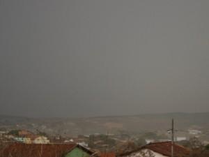 Bambuí chuva, granizo (Foto: Marco Antônio/Tv Bambuí)