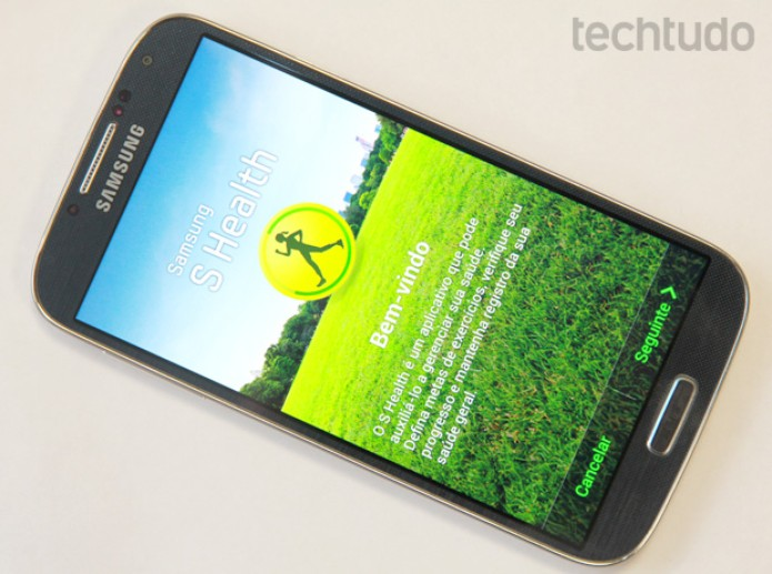 Aplicativo S Health aberto no Galaxy S4 (Foto: Allan Melo/TechTudo)