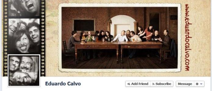 Usuário reinterpretou a Santa Ceia na sua foto de capa (Foto: Reprodução/Hongkiat)