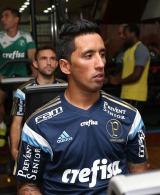 Lucas Barrios Palmeiras academia (Foto: Cesar Greco/Ag Palmeiras/Divulgação)
