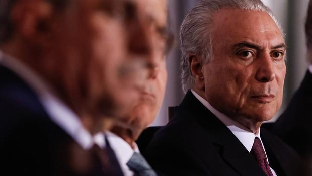 O presidente Michel Temer durante reunião com base aliada para discutir empréstimos do BNDES (Foto: Marcos Corrêa/PR)