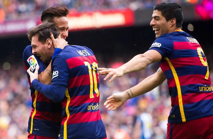 Messi Suárez Neymar Barcelona (Foto: Getty Images)