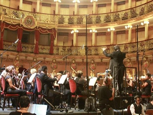 Apresentação da Orquestra Amazonas Filarmônica (Foto: Frank Cunha/G1 AM)