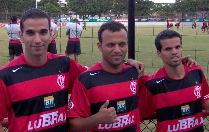 Léo Medeiros, Diego Silva e Walter Minhoca Flamengo (Foto: Globoesporte.com)