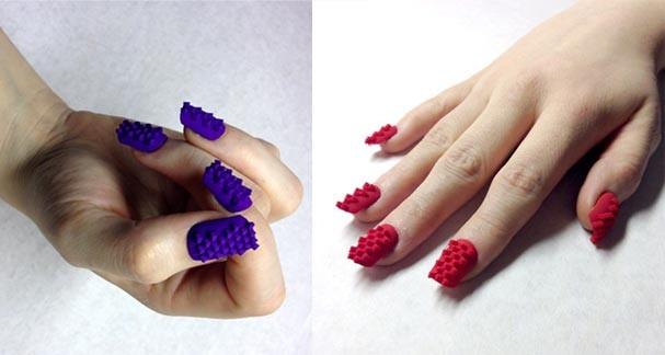 Essas unhas postiças nos lembraram o jogo Tetris (Foto: Reprodução/Tumblr)