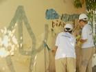 Detentas revitalizam antiga escola de Piracicaba antes da volta às aulas