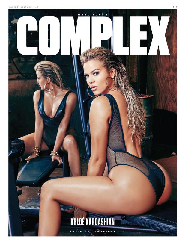 Khloé Kardashian na capa da Complex (Foto: Reprodução/Complex)