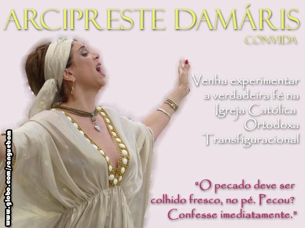 Arcipreste Damáris: a solução para sua angústia interior (Foto: Sangue Bom/TV Globo)
