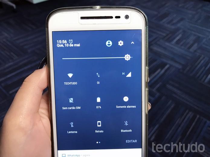 Aplicativo muda central de notificações do Android 7.0: veja como usar (Foto: Anna Kellen Bull/TechTudo)