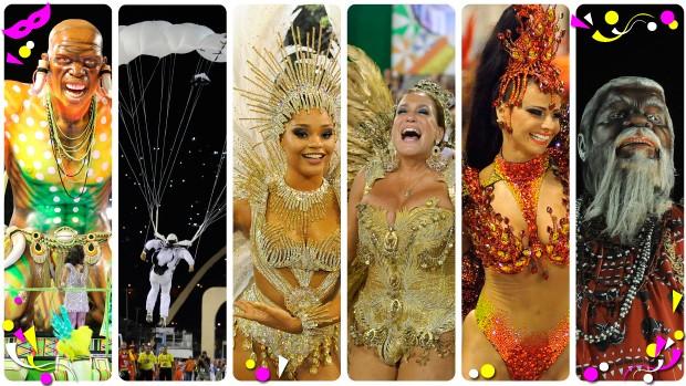 Seis escolas campeãs do carnaval 2015 do Rio de Janeiro voltaram à Sapucaí (Foto: Editoria de Arte/G1)