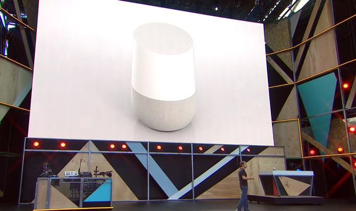 Google Home é um assistente que atende por voz (Foto: Reprodução/Google)