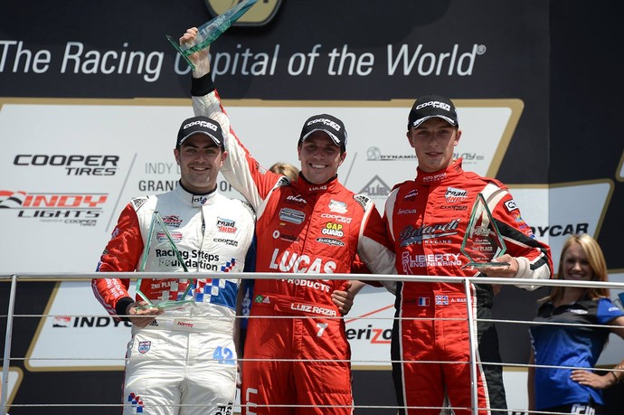 Luiz Razia venceu o GP de Indianápolis na Indy Lights (Foto: Divulgação)