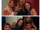 Danielle Winits comemora aniversário do namorado no Rio
