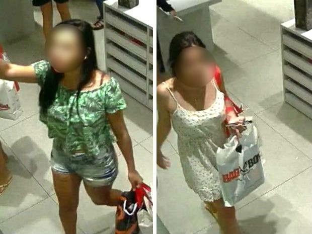 Suspeitas de usar cartão clonado de idoso para compras no Entorno do DF, em imagens de câmeras de segurança (Foto: Polícia Civil/Divulgação)