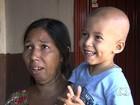 Família de criança com câncer busca ajuda para sobreviver em Goiânia