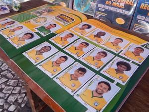 Página completa do Brasil no álbum da Copa do Mundo (Foto: Jéssica Bitencourt / G1)