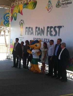 Visita Fifa Fan Fest Fortaleza (Foto: Roberto Leite)