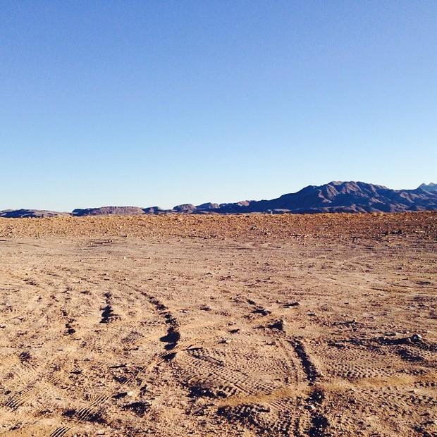 Foto de deserto em Las Vegas, nos Estados Unidos, postada por Angélica (Foto: Instagram/ Reprodução)
