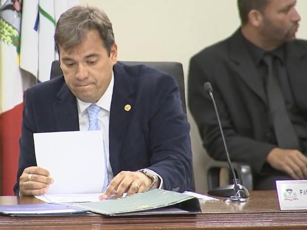 Gastos de Fábio Marcondes são alvo de questionamento do Ministério Público Eleitoral (Foto: Reprodução/ TV TEM)