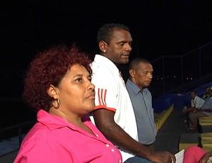 Vera Baldez, candidata a presidente do Moto Club, Kleber (diretor de futebol) e Raimundinho Lopes será o gerente (Foto: Reprodução/TV Mirante)