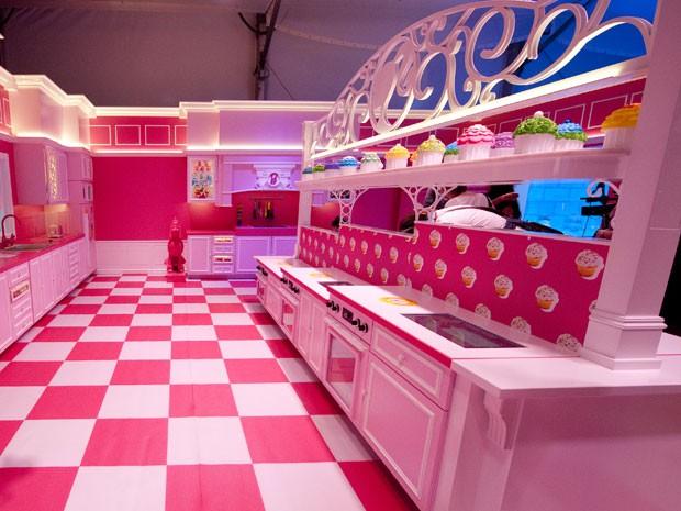 Ambiente da Casa dos Sonhos da Barbie, em Berlim (Foto: Barbara Sax/AFP)