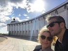 Otaviano Costa e Flávia Alessandra seguem viagem pela Rússia