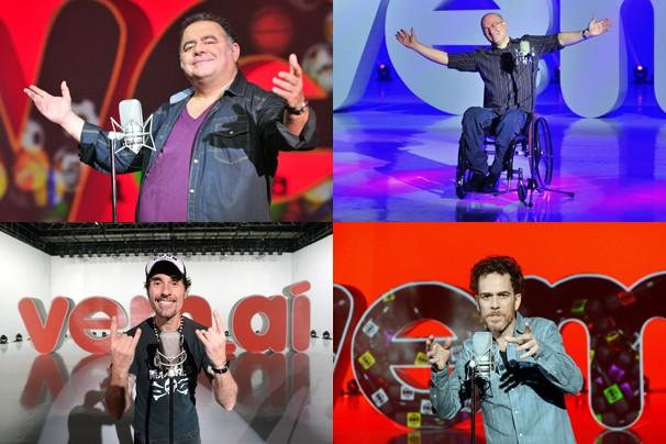 O pop rock dos anos 80 marca presença no vem_aí: Léo Jayme, Herbert Vianna, Dinho Ouro Preto e Nando Reis (Foto: João Miguel JR./Rede Globo)