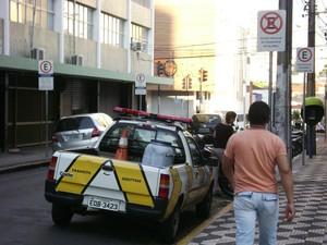 Carro da Semuttran Piracicaba (Foto: VC no G1)