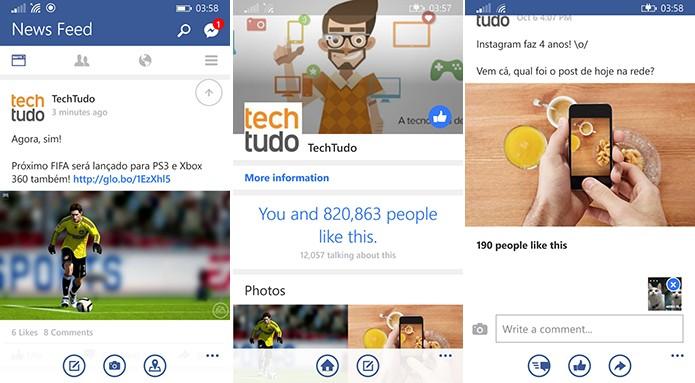 Facebook Beta recebeu atualização que permite postar fotos nos comentários (Foto: Reprodução/Elson de Souza)