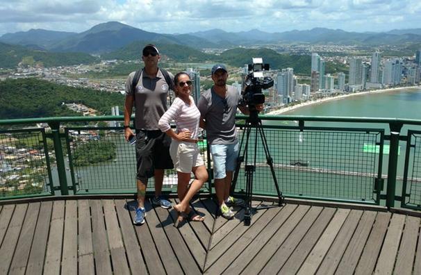Carla Suzanne viajou até Santa Catarina para gravar o 'Tô de Folga' (Foto: TV Globo)